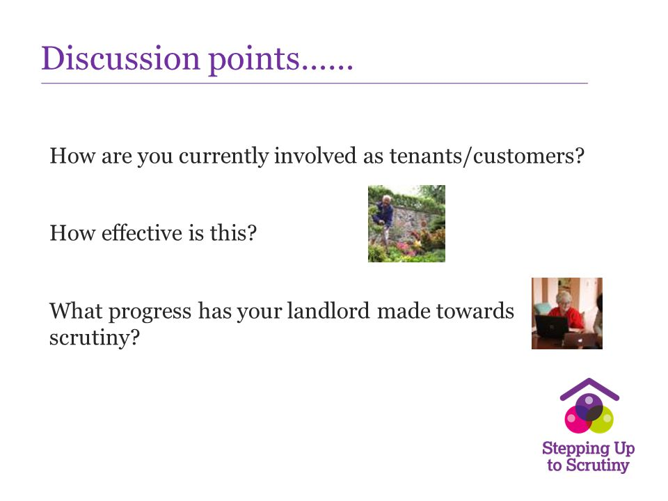 Discussion points……