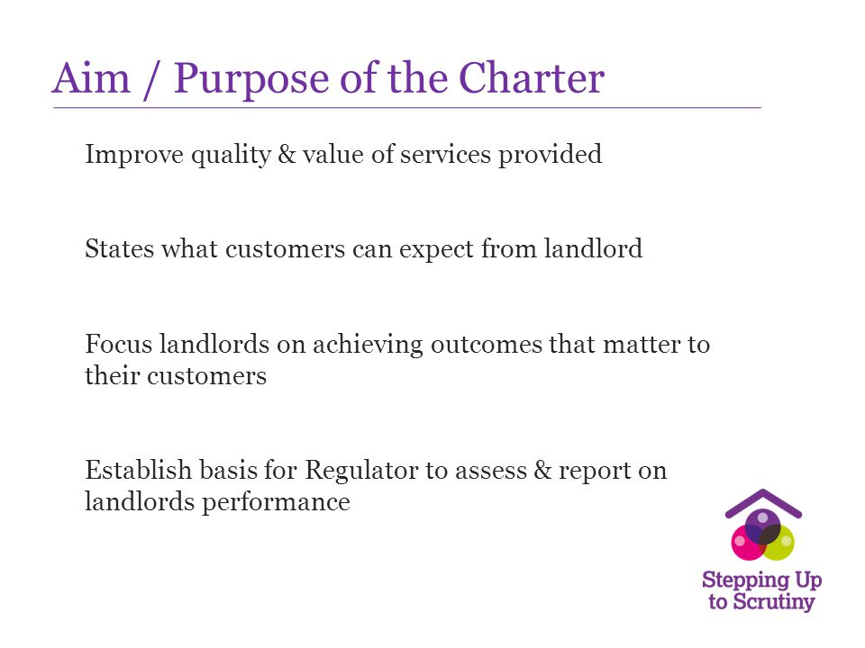 Aim / Purpose of the Charter