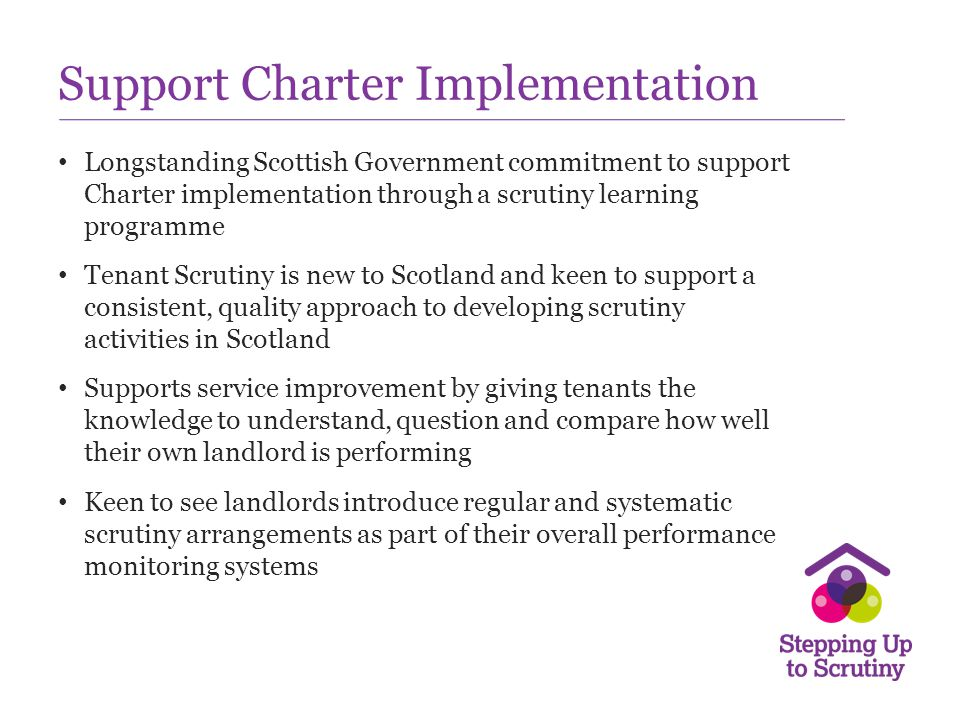 Support Charter Implementation