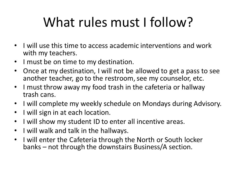 What rules must I follow