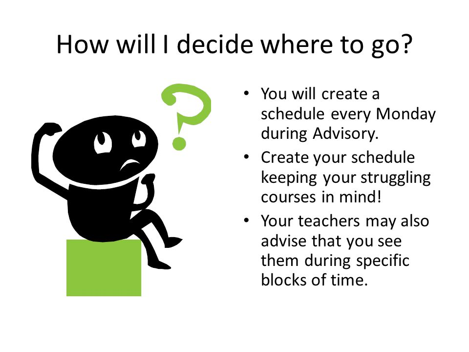 How will I decide where to go