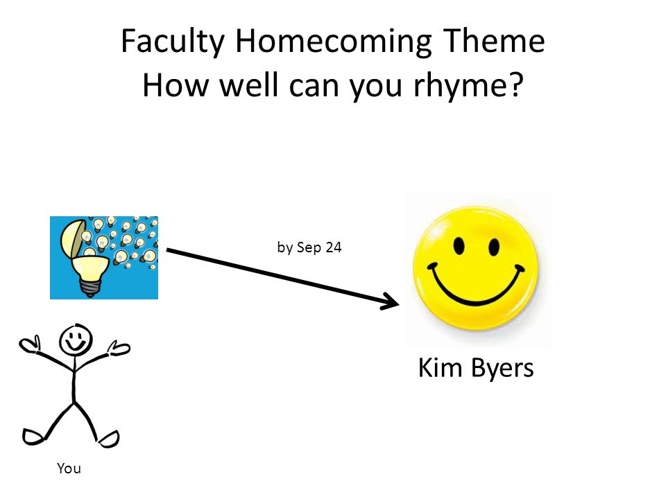Faculty Homecoming Theme How well can you rhyme