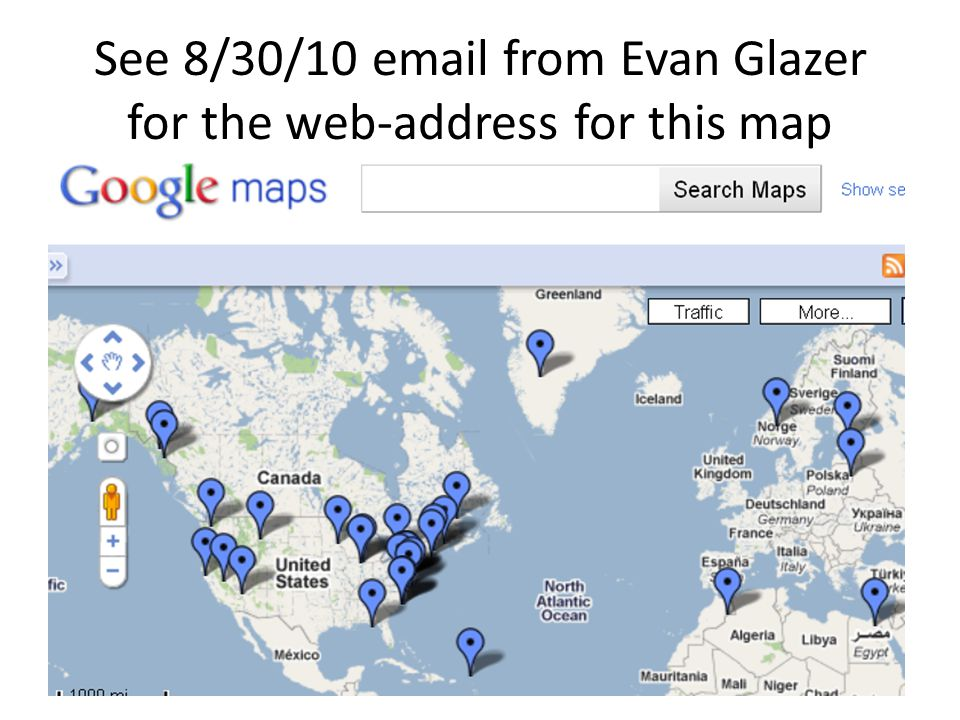 See 8/30/10 email from Evan Glazer for the web-address for this map