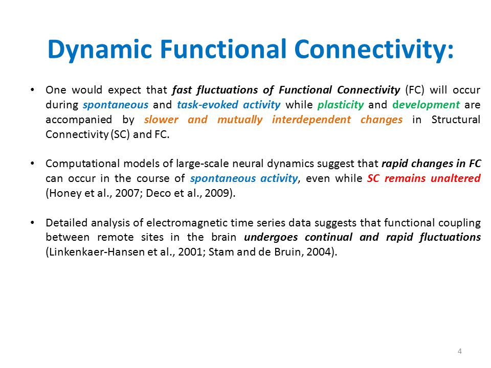 Dynamic Functional Connectivity:
