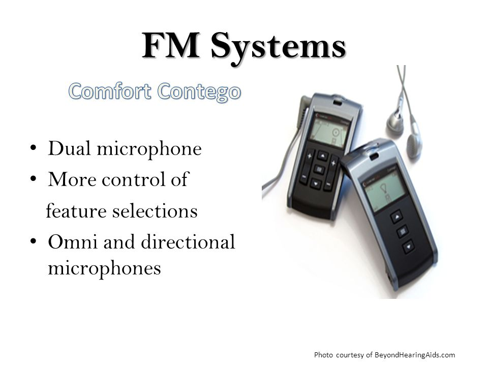 FM Systems Comfort Contego Dual microphone More control of