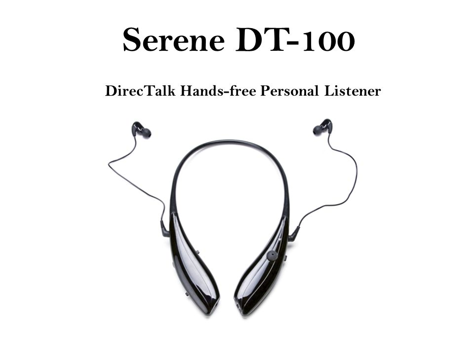 DirecTalk Hands-free Personal Listener