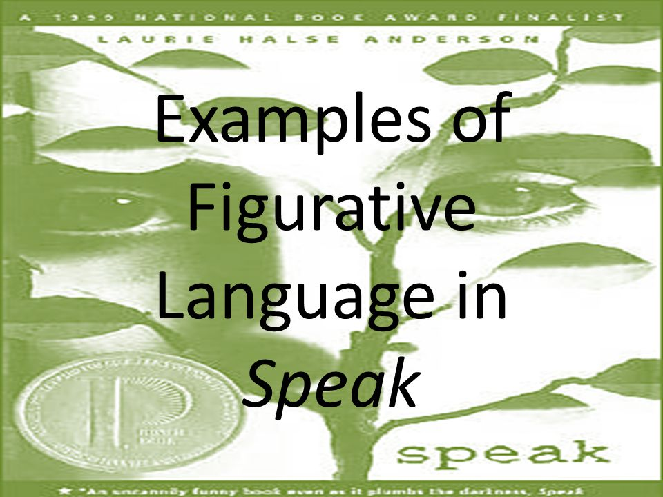 Examples of Figurative Language in Speak