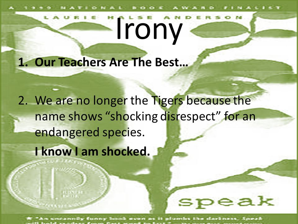 Irony Our Teachers Are The Best…
