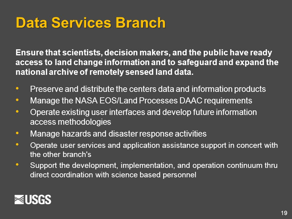 Data Services Branch