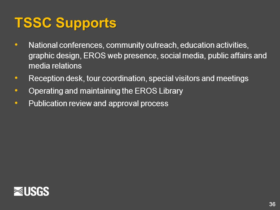TSSC Supports