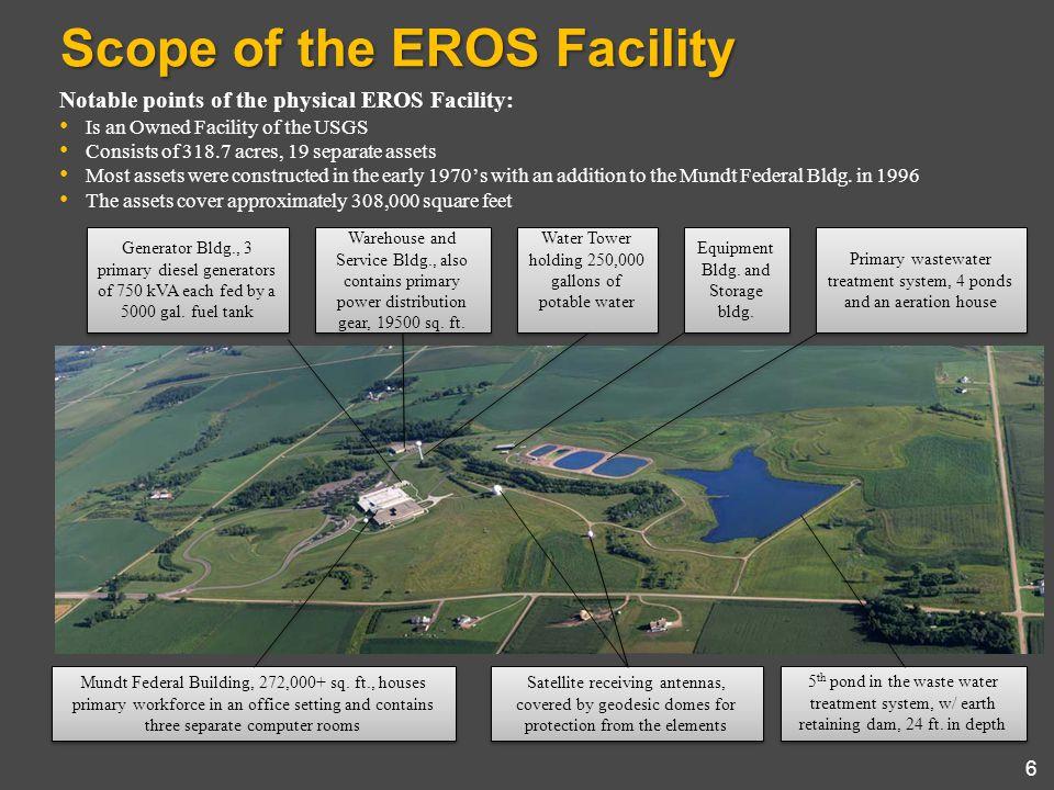 Scope of the EROS Facility