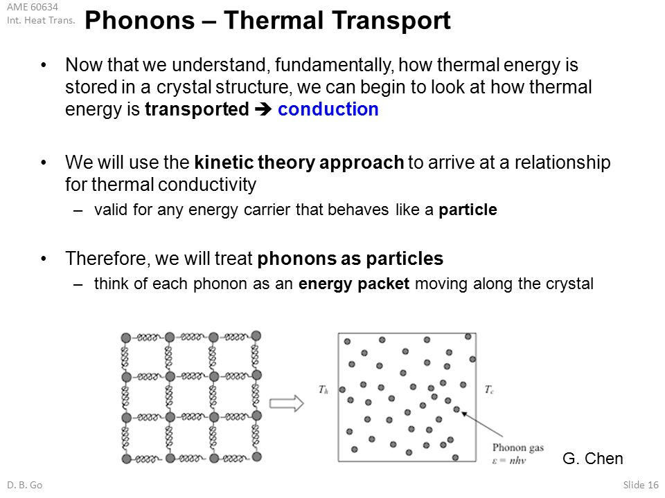 Phonons – Thermal Transport