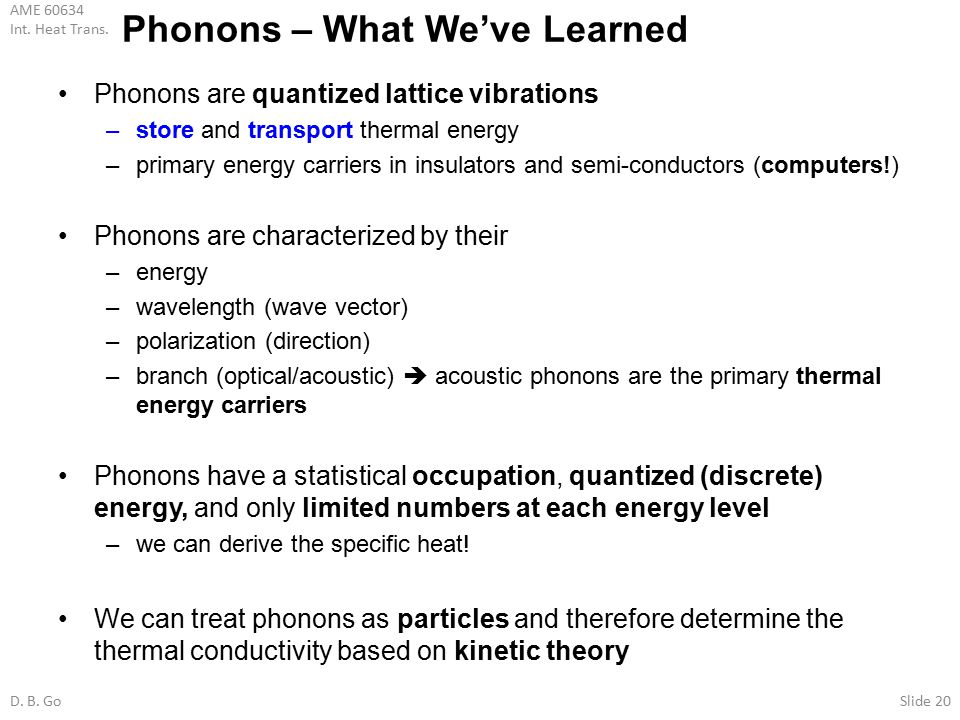 Phonons – What We've Learned