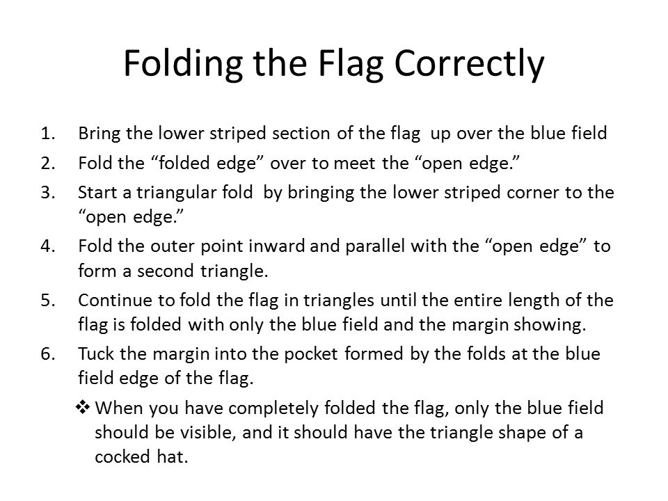 Folding the Flag Correctly