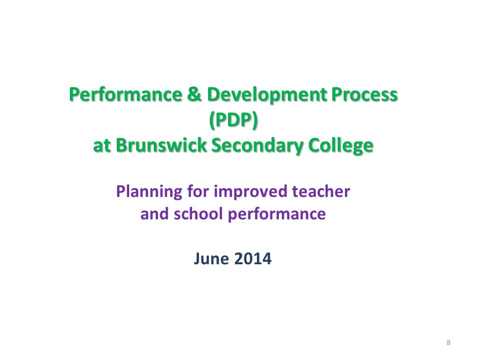 Performance & Development Process (PDP)