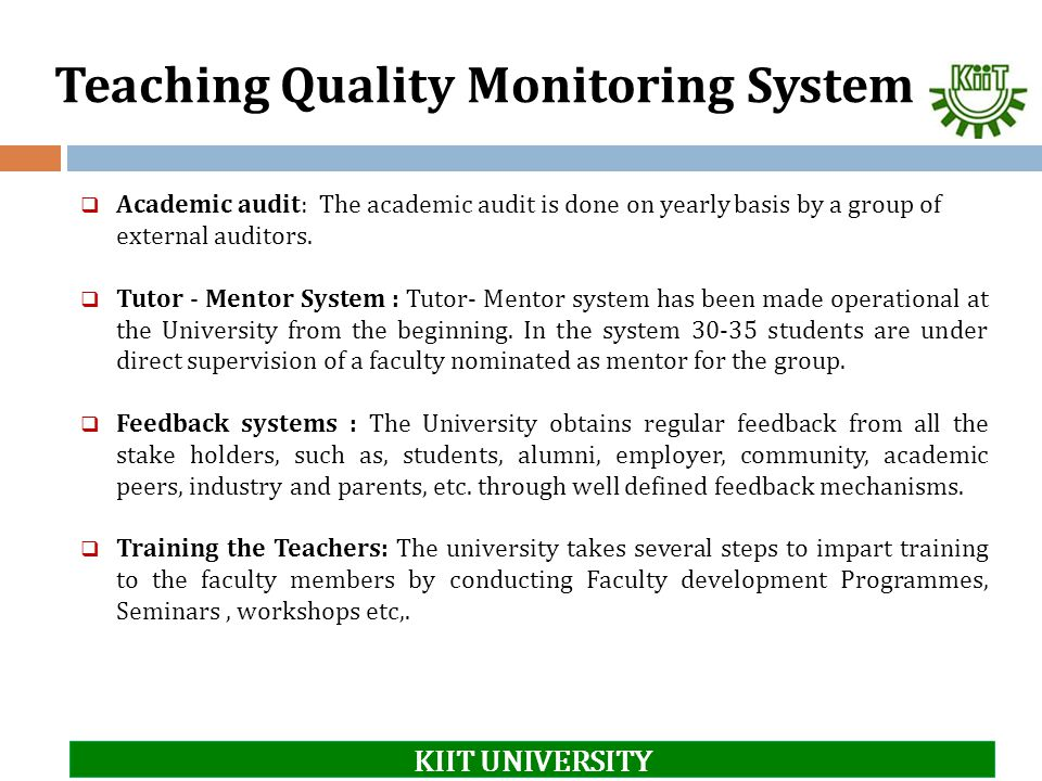 Teaching Quality Monitoring System