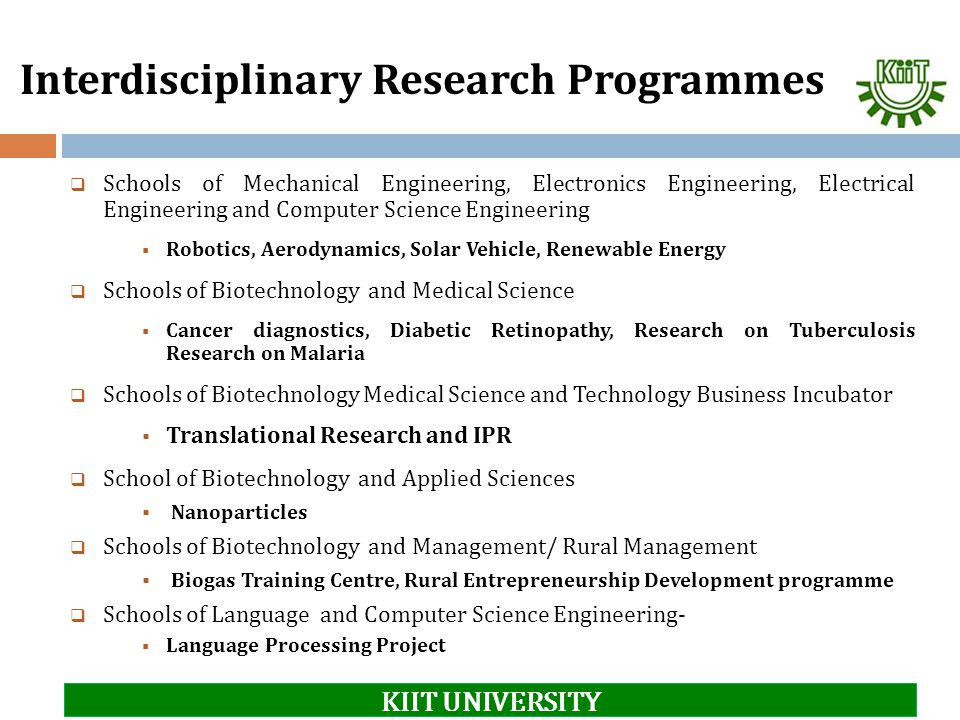 Interdisciplinary Research Programmes