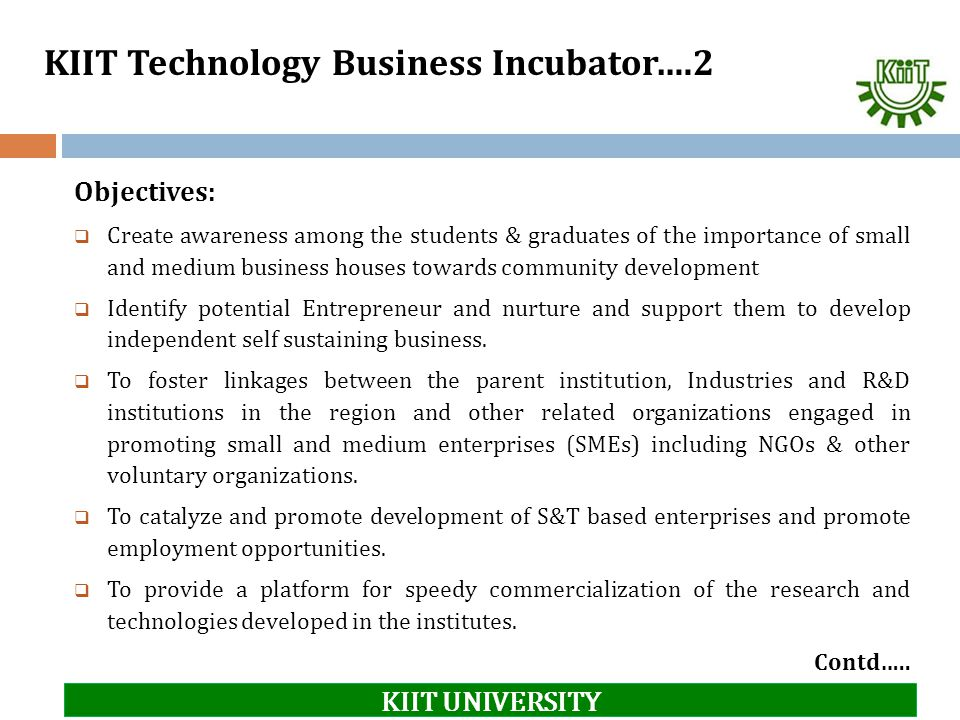 KIIT Technology Business Incubator….2