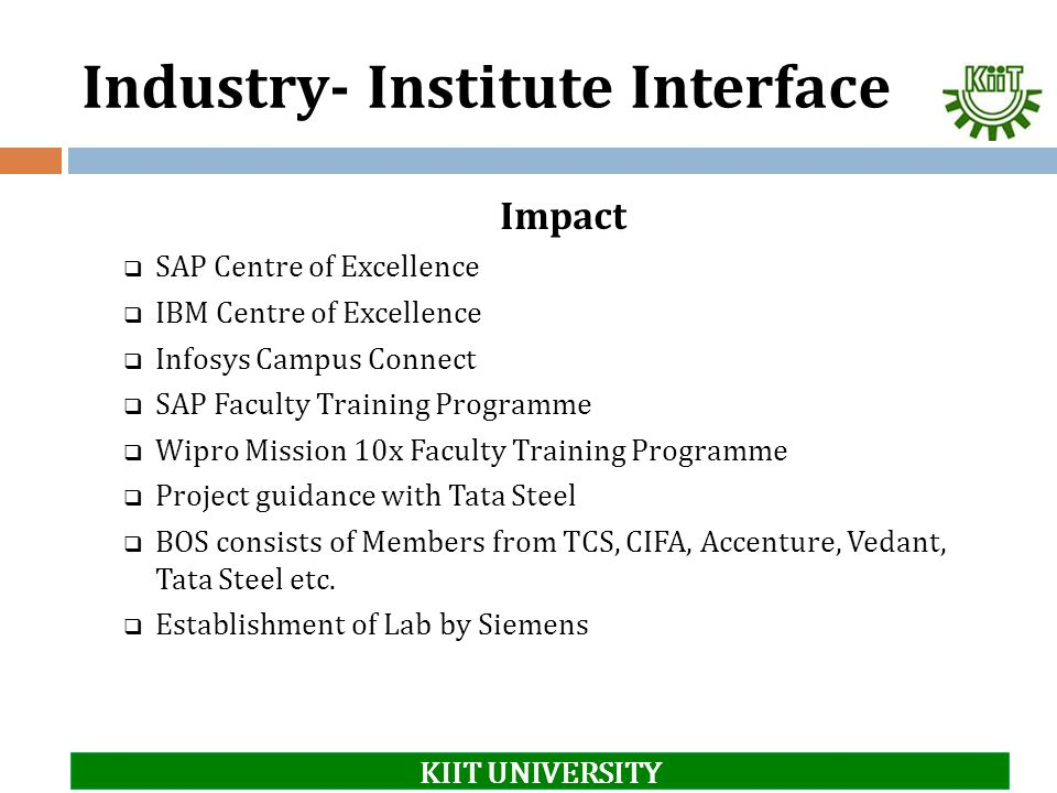 Industry- Institute Interface