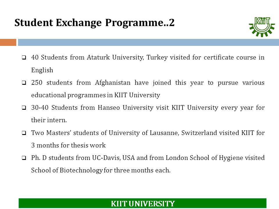 Student Exchange Programme..2