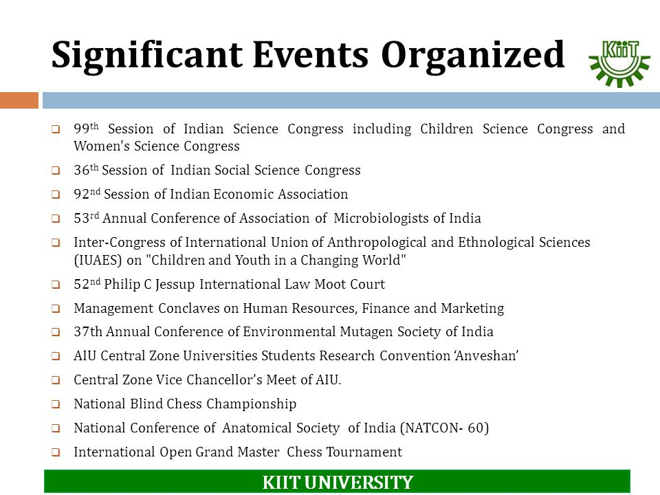 Significant Events Organized