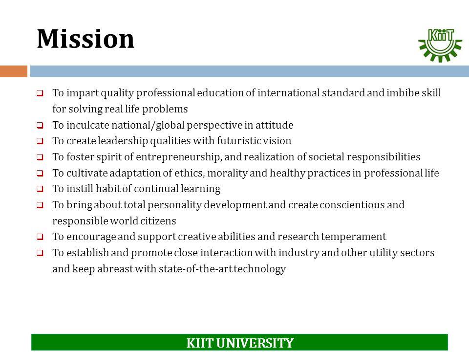 Mission KIIT UNIVERSITY