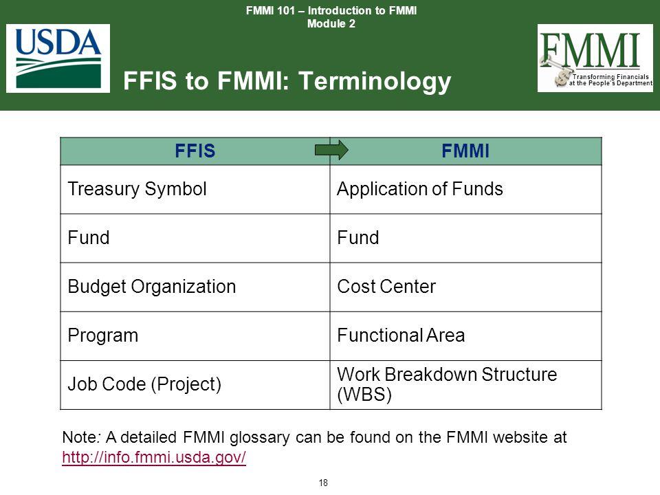 FFIS to FMMI: Terminology