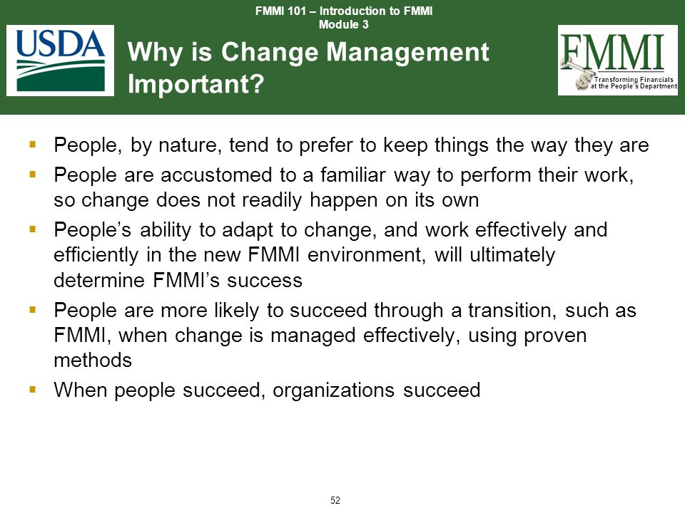 Why is Change Management Important