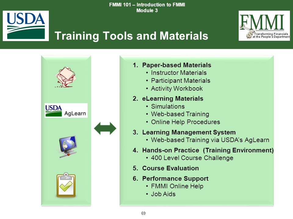 Training Tools and Materials