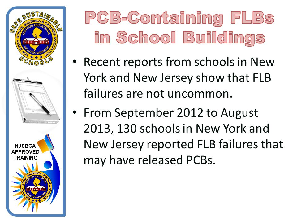 PCB-Containing FLBs in School Buildings