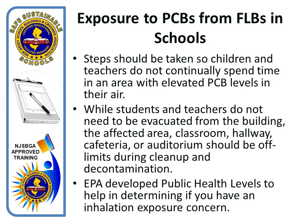 Exposure to PCBs from FLBs in Schools