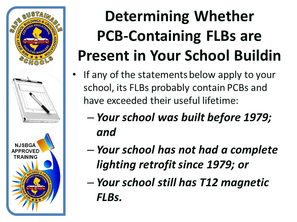 Determining Whether PCB-Containing FLBs are Present in Your School Buildin