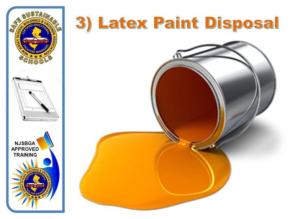 3) Latex Paint Disposal