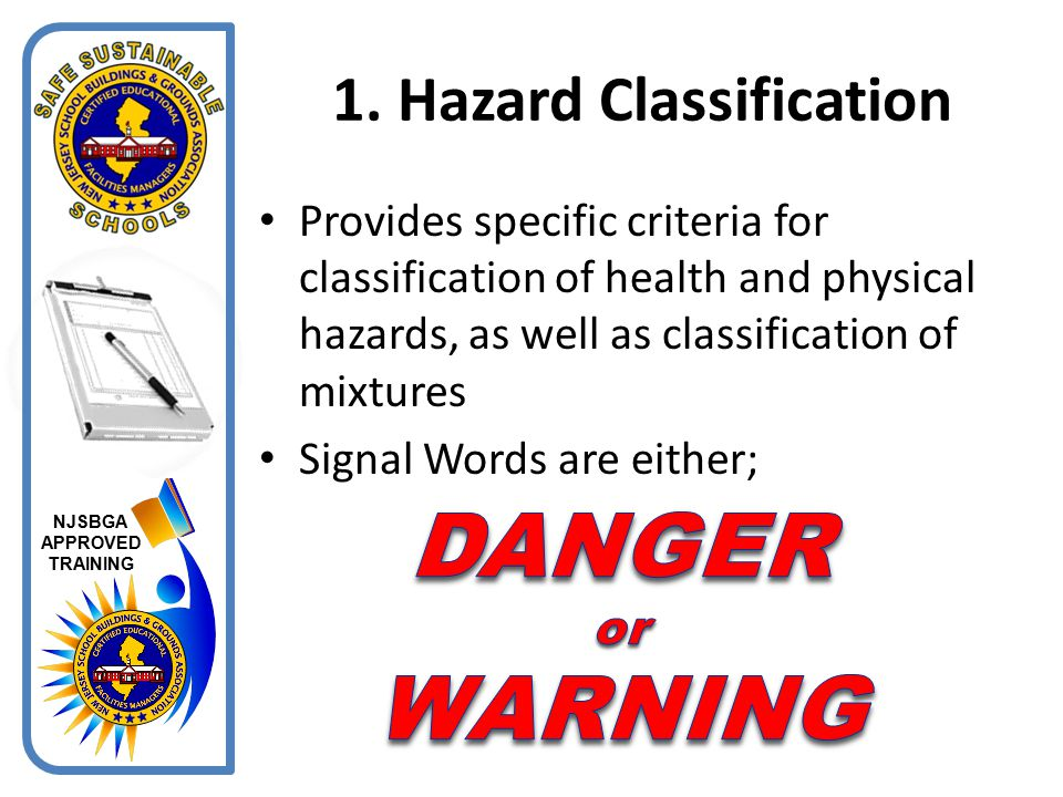1. Hazard Classification