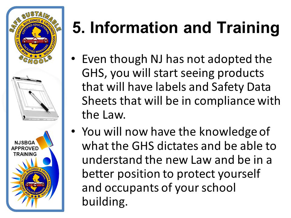 5. Information and Training