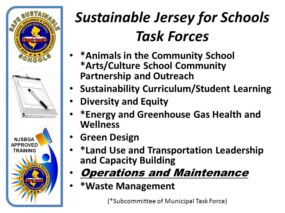 Sustainable Jersey for Schools Task Forces