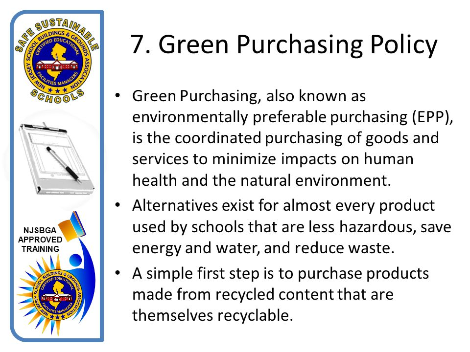 7. Green Purchasing Policy