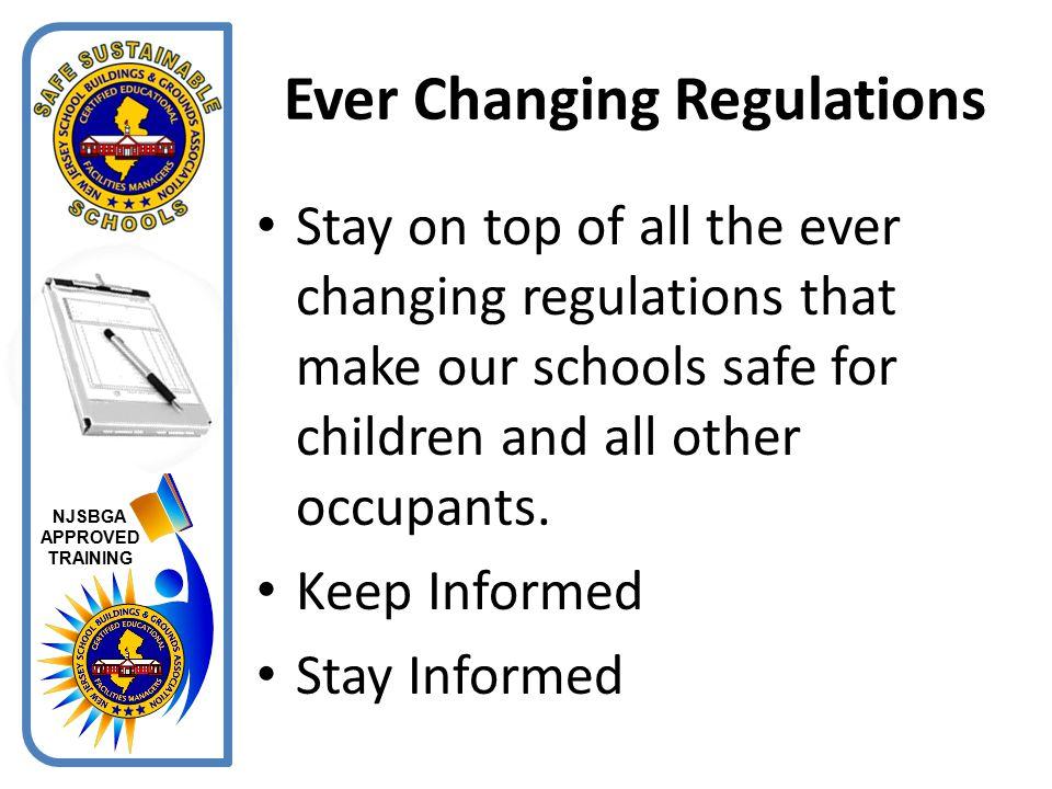 Ever Changing Regulations