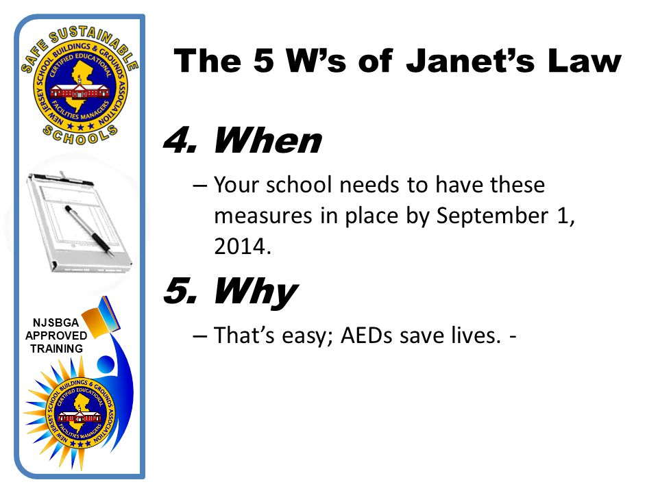 When Why The 5 W's of Janet's Law
