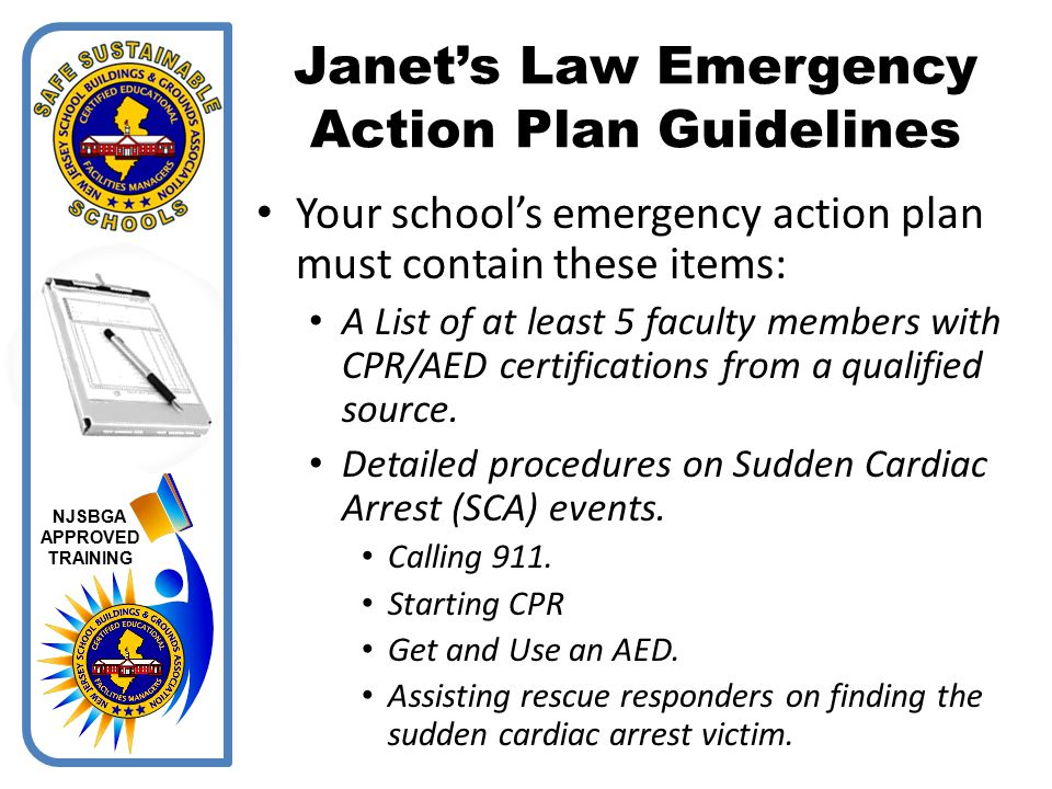 Janet's Law Emergency Action Plan Guidelines