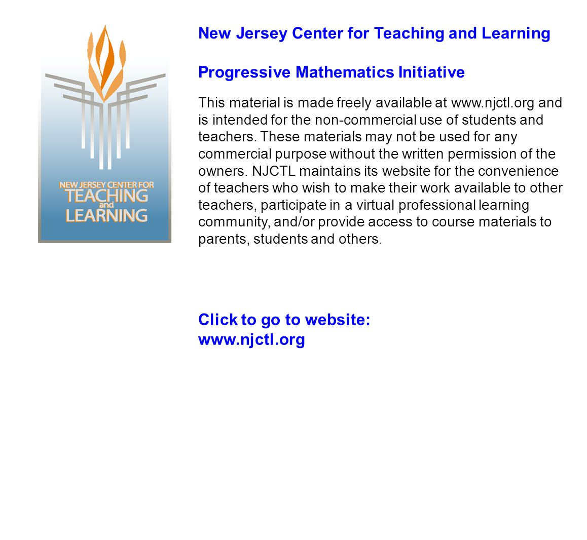 New Jersey Center for Teaching and Learning