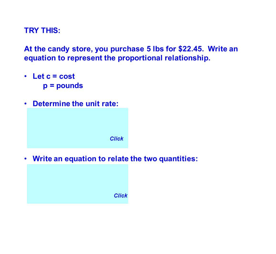 Determine the unit rate: