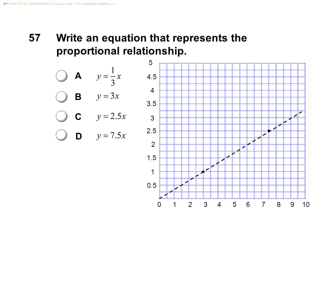 Write an equation that represents the proportional relationship.