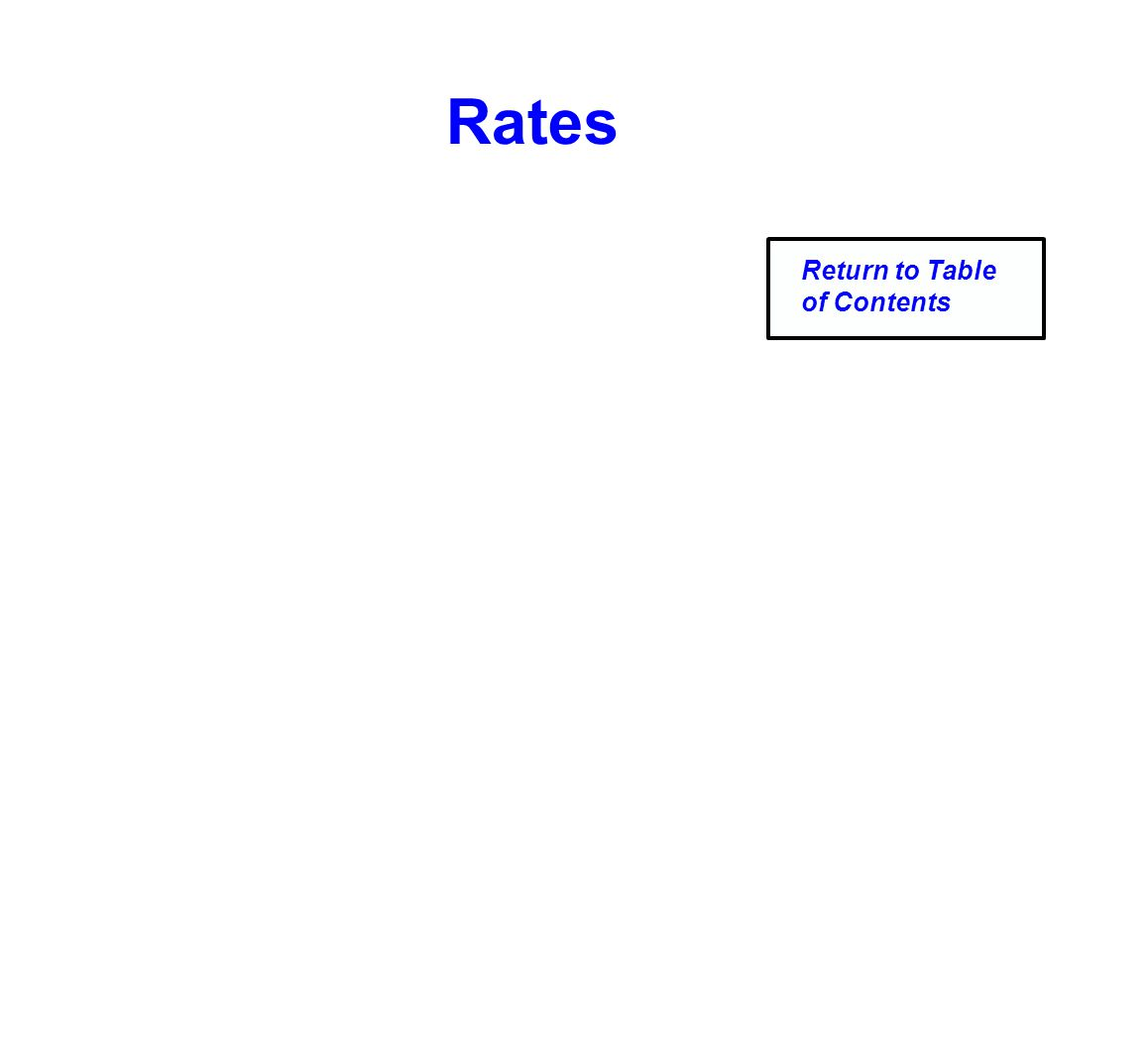 Rates Return to Table of Contents