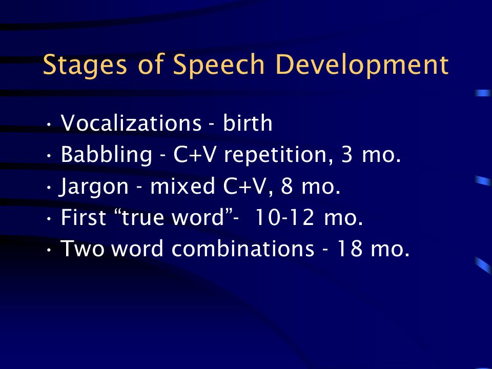 Stages of Speech Development