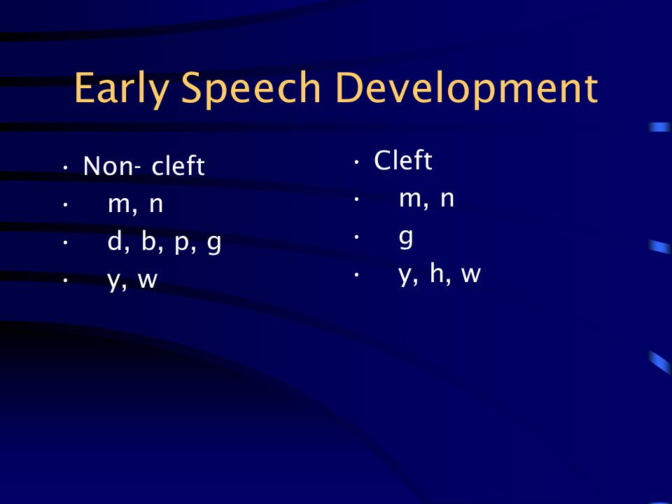 Early Speech Development