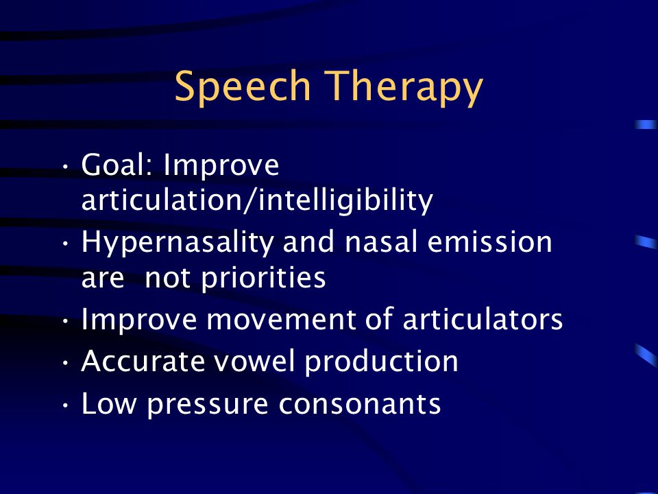 Speech Therapy Goal: Improve articulation/intelligibility
