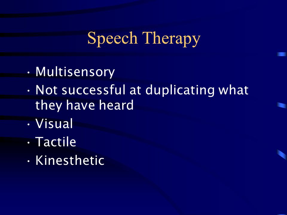 Speech Therapy Multisensory