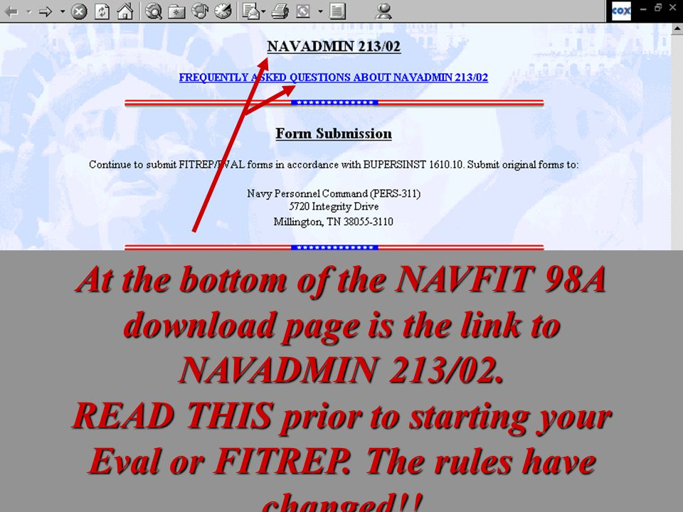 At the bottom of the NAVFIT 98A download page is the link to