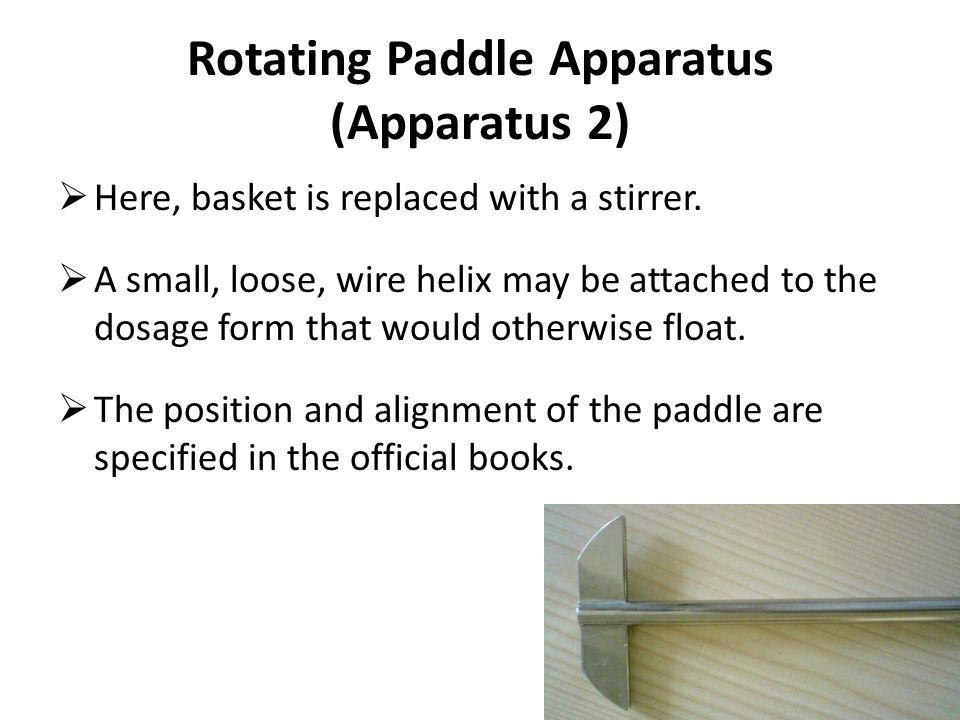 Rotating Paddle Apparatus (Apparatus 2)